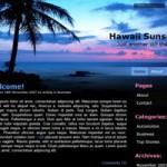 """Hawaii Sunset"" theme – WordPress用ブログテーマ"