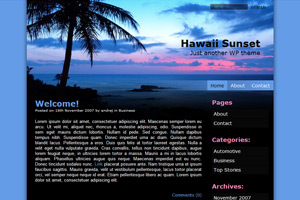 """Hawaii Sunset"" theme – WordPress用ブログテーマ"