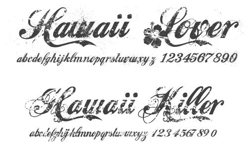 ハワイアンフォント 2種