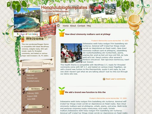 Honolulu Blog Template – WordPress Theme
