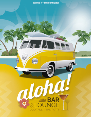 tropical-holidays-bar-poster