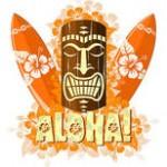 Hawaiian tiki アイコン、バナー 43点