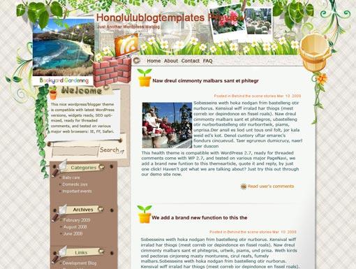 Honolulu Blog Template – WordPress Theme