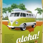 ハワイなポスター作りに最適なVectorArt – Tropical bar poster